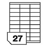 Self-adhesive labels for all types of printers- 27 labels on a sheet