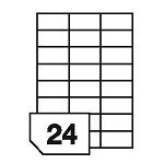 Self-adhesive labels for all types of printers- 24 labels on a sheet