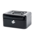 Cash box 15 x 12,5 x 8 cm black [561 01-90] (BS-46)