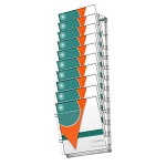 Leaflet holders in aluminium frame (10 x A4)