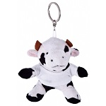 Key ring plushy cow with t-shirt for overprint