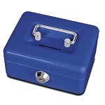 Cash box with coin slot - blue