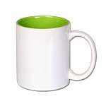 Inside color outside white sublimation mug