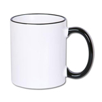 Color handle sublimation mug