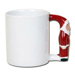 Sublimation mug Santa-shaped handle
