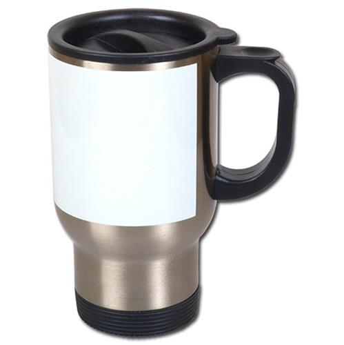Thermal mug for sublimation with white field