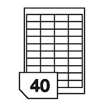 Self-adhesive glossy white photo labels for inkjet printers - 40 labels on a sheet