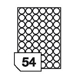 Self-adhesive labels for all types of printers- 54 labels on a sheet