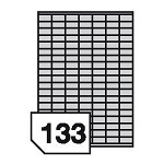 Self-adhesive polyester film labels for inkjet printers - 133 labels on a sheet