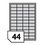 Self-adhesive polyester film labels for inkjet printers - 44 labels on a sheet
