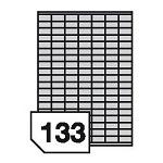 Self-adhesive, polyethylen, universal film labels - 133 labels on a sheet