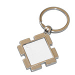 Metal square keychain for sublimation