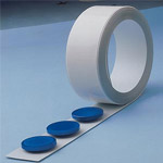 White strip on a roll for magnets
