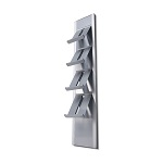 Mounted on a wall leaflet rack BRW