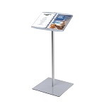 Info Stand with ring binder mechanism