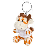 Key ring plushy giraffe with t-shirt for sublimation