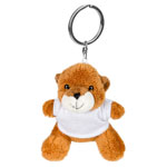 Key ring light-brown plushy bear with t-shirt for sublimation