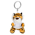 Key ring plushy tiger with t-shirt for sublimation