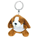 Key ring plushy dog with t-shirt for sublimation