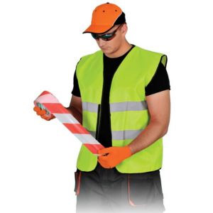 Yellow, reflective vest