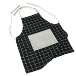 Checked apron with pocket for sublimation printout