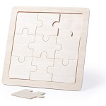 Wooden puzzles for thermotransfer 9 elements