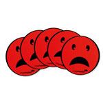 Round magnets - sad face