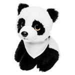 Teddy panda with a white scarf for sublimation