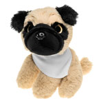 Teddy dog with a white scarf for sublimation