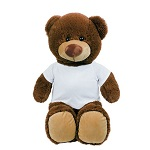 Brown teddy bear with T-shirt suitable for sublimation