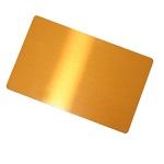 Aluminium business card for sublimation overprint - gold