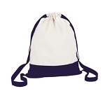 Double coloured sack with wide shoulder straps