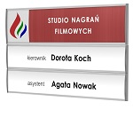 Modular info plate