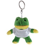 Key ring plushy frog with t-shirt for overprint
