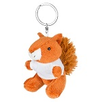 Key ring plushy squirrel with t-shirt for sublimation