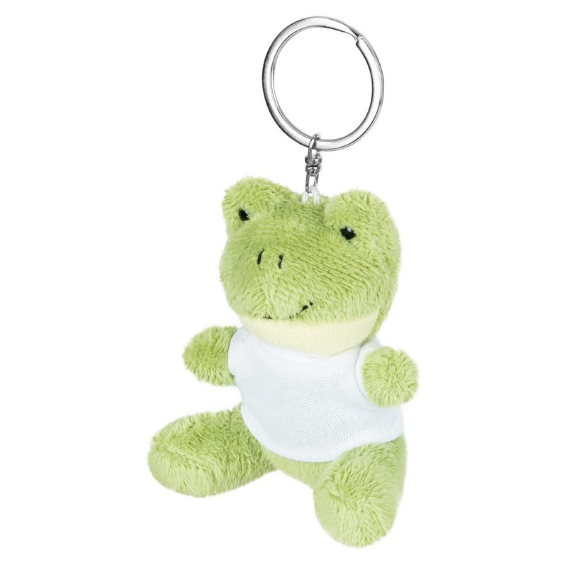 Key ring plushy frog with t-shirt for sublimation