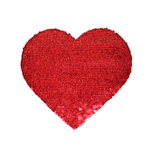 Heart-shaped Two-color thermo sequins for sublimation