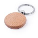Circular wooden keychain to print