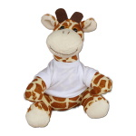 Teddy giraffe with white T-shirt for sublimation