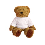 Light-brown teddy bear with white T-shirt for sublimation