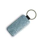 Rectangular leather keychain to print
