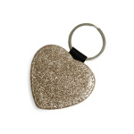 Heart-shaped leather keychain to print