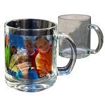 Translucent glass mug for sublimation outprint