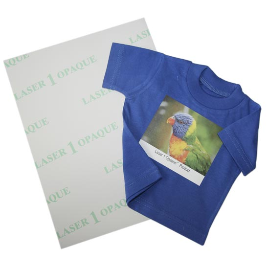 Laser 1 Opaque - Transfer paper for dark and colour textiles for laser printers