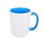 Inside and handle color sublimation mug - big