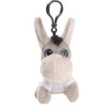 Key ring plushy donkey with t-shirt for sublimation