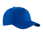 Peaked cap 5-panels with metal clip
