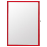 Magnetic pocket for document A4 - red;