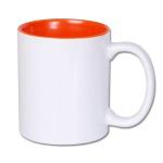 Inside color outside white sublimation mug