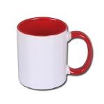 Inside and handle color sublimation mug
